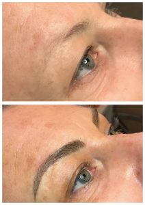Photos before & after eyebrows permanent makeup